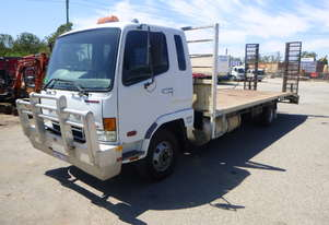 2007 Mitsubishi FK600 Fuso Fighter Flat Bed Truck with Ramps