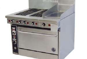 Goldstein PEC4S12G28 4 Electric Hotplate + Griddle 711mm High Speed Convection Oven