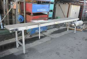 Motorised Rubber Belt Conveyor ALUMINIUM TSLOT FRAME 4m long 425mm wide