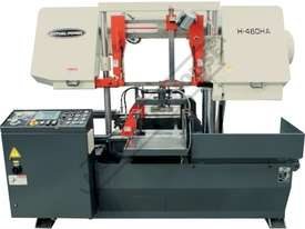 H-460HA-NC NC Double Column Metal Cutting Band Saw - Automatic Hitch Feed 480 x 460mm (W x H) Rectan - picture2' - Click to enlarge