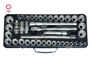 41 PC 1/2\ SQ. DR. 12 PT SOCKET SET METRIC/SAE