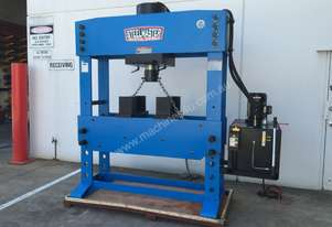 200Ton Fixed & Sliding Head Industrial Shop Press - HUGE 1500mm Wide Frame