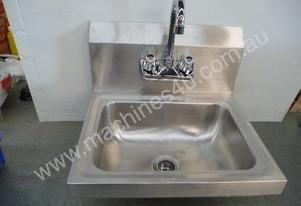 NEW COMMERCIAL STAINLESS STEEL WASH BASIN WITH TAP