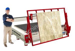 floor type loading system for big size marble slab 380Mpa Pump for 2000mm*4000mm cutting table