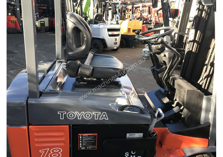 Toyota Electric Forklift 7FBE18 1.8Ton 5000mm Lift