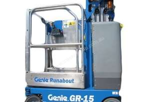 Vertical man lift - 4.5m (15ft) Electric Genie