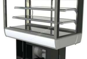 FPG 3C12-SQ-CT-FF-I Refrigerated Square Counter Top Display w/Fixed Front Glass & Integral Condensin