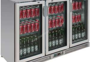 Polar CE207-A - Bar Display Cooler Stainless Steel Triple Hinged Doors