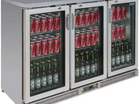 Polar CE207-A - Bar Display Cooler Stainless Steel Triple Hinged Doors - picture0' - Click to enlarge