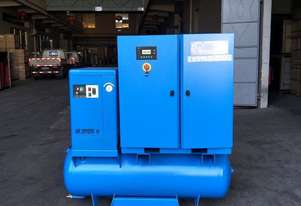 Pneutech 50 CFM /15hp Rotary Screw Compressor w/ Integrated Air Dryer & Receiver Tank.