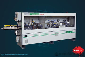 Automatic edgebander CNC servo with premilling corner rounding. Made in Italy
