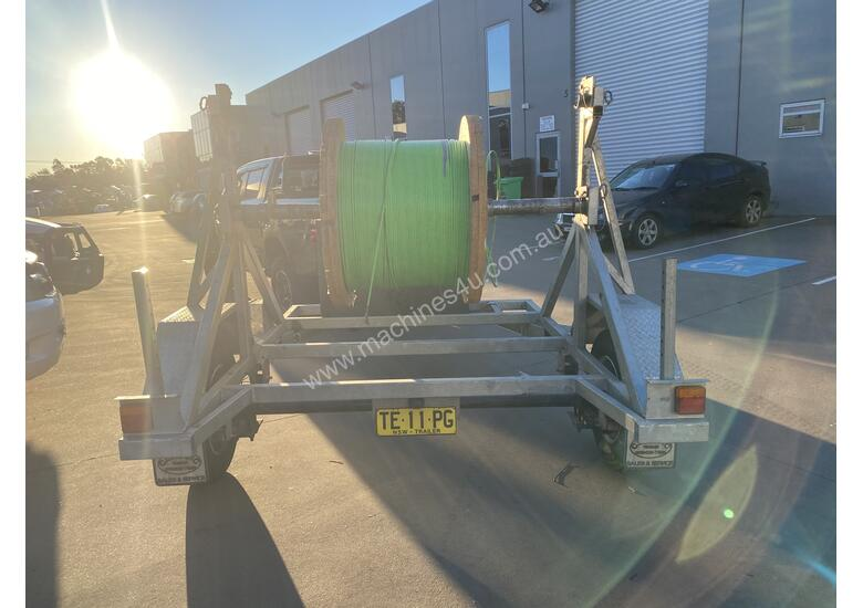 Cable Drum Trailer - 2500kg Single axle Bambalina Cable Drum Trailer