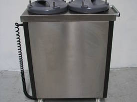 2 Stack Stainless Steel Heated Plate Dispenser