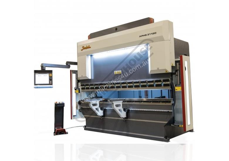 APHS-31120 Hydraulic CNC Pressbrake 120T x 3100mm, 5 Axis, Delem DA66T Touch Screen Control Includes