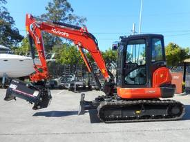 U57 Excavator / KX057 fitted with Flail Mower