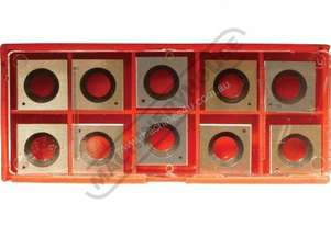 W816 HSS Inserts For Thicknesser Spiral Cutter Heads 14.3 x 14.3 x 2mm (10 Inserts Per Pack) Suits T
