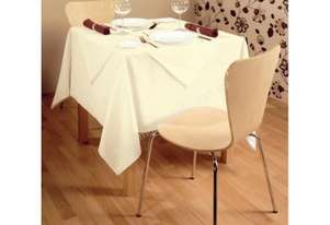 Or  Black Polyester Table Linen