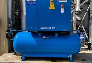 Pneutech 20hp Rotary Screw Air Compressor, Compressed Air Dryer, 500L Receiver - 5 YEAR WARRANTY