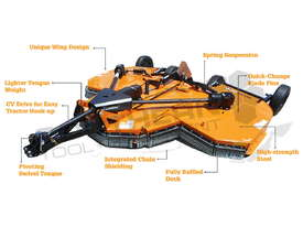 Rotary slasher Bat-Wing 15ft BW180X 4571mm Mower ATTPTO - picture17' - Click to enlarge