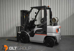 Nissan PL0 2.5 tonne forklift for sale 4300mm lift height LPG New Tyres