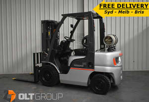 Used Nissan 2.5 tonne forklift for sale 4300mm lift height LPG New Tyres Sydney