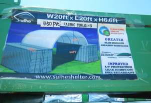 20' x 20' SingleTrussed Container Shelter PVC