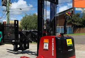 HYWORTH 1.5T Double Deep Walkie Reach Forklift HIRE from $190pw + GST