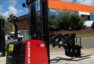 HYWORTH 1.5T Double Deep Walkie Reach Stacker Forklift HIRE from $190pw + GST