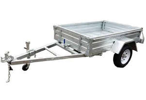 TRAILER 8X5 GALV SINGLE AXLE (NO  CAGE)