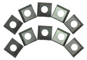10 Pack of 14.2mm x 14.2mm x 2mm HSS 2 Sided Insert Blades 25-499 by Rikon suit Spiral Head Cutter B
