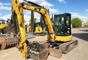 CAT 305E2 EXCAVATOR WITH LOW 1043 HOURS, FULL CAB, CIVIL SPEC, HITCH AND BUCKETS