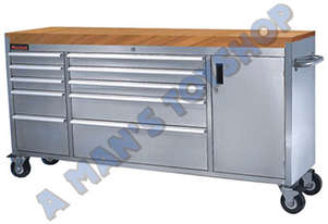 WORKSHOP TROLLEY 10 DRAWER WOOD 1830MM