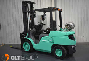 Mitsubishi 3 Tonne Forklift LPG Sideshift 4th Function with Fork Positioner Low Hrs Current Model