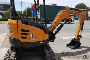 2.8t IN STOCK NOW!! $38 per day finance. Excavator SY26U SA only Dealer