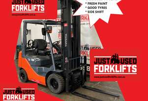 TOYOTA 32-8FG18 DELUXE 34977 1.8 TON 1800 KG CAPACITY LPG GAS FORKLIFT 6000 MM 3 STAGE