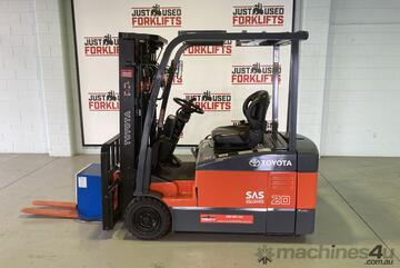 2012 TOYOTA 7FBE20 3 WHEEL 7FBE20 COUNTER BALANCED FORKLIFT CONTAINER MAST 4300mm NEW PHOTOS WHEN IT