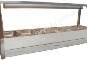 Roband E16 Single Row Straight Glass Hot Foodbar 6