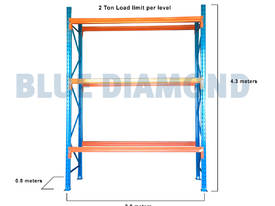 Pallet Racking Bay 4.3M X 2.8M with 3 Levels