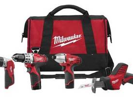 Milwaukee 12V Cordless 4pce Combo Kit