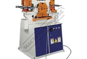 IW-45K Hydraulic Punch & Shear - 45 Tonne Single Hydraulic Cylinder System Includes Auto Touch & Cut