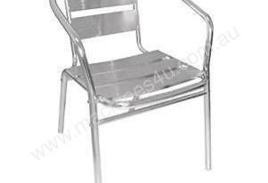 Cafe Chairs - Bolero Aluminium Chairs (Pack of 4)