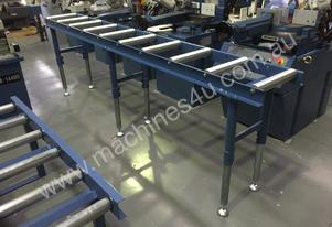 360MM X 3000MM ROLLER CONVEYOR & 3 LEG KIT