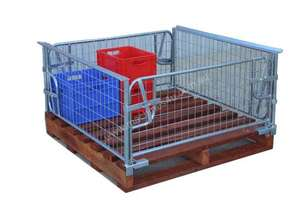 Pallet Cage Half with Timber Pallet
