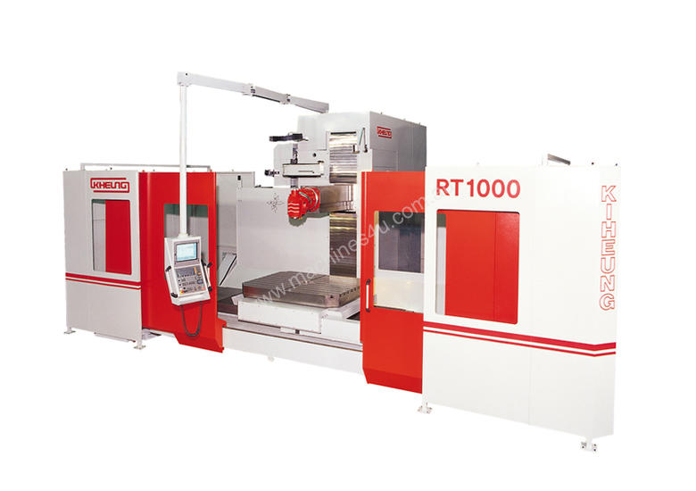 CNC Bed type milling machine with rotary table RT1