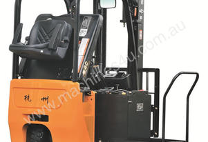 J Series 1-1.5T Forklift (Three Wheel, Rear Drive)
