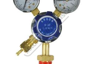 W160A Argon Gas Regulator-Twin Gauge Suits Cylinders with AS 2473 Type 10 Connection Suits MIGS