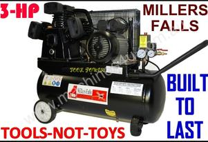 Air Compressor Millers Falls 3-hp X 50 Litres Cast