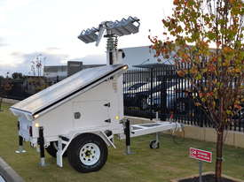 LED Solar lighting tower - picture14' - Click to enlarge