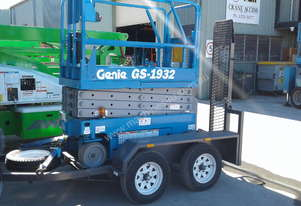 Genie Scissor Lift and Trailer