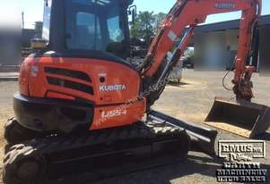Kubota U55-4 Excavator, with attachments